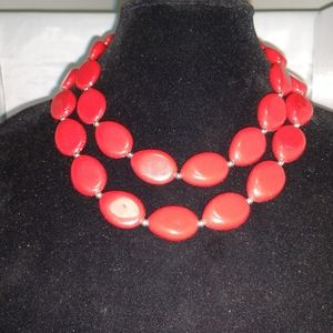 Rare Vintage cherry red  necklace
